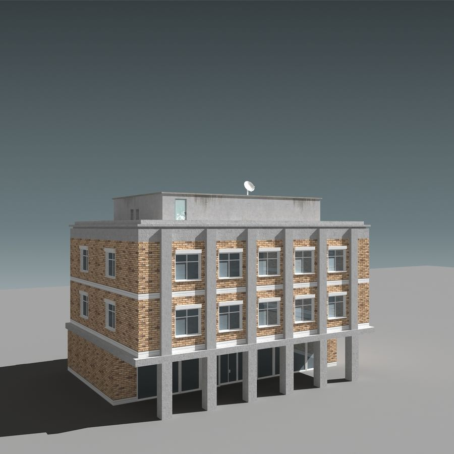 模块化建筑 royalty-free 3d model - Preview no. 5