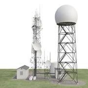Estación meteorológica modelo 3d