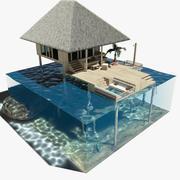 Domek nad wodą 3d model