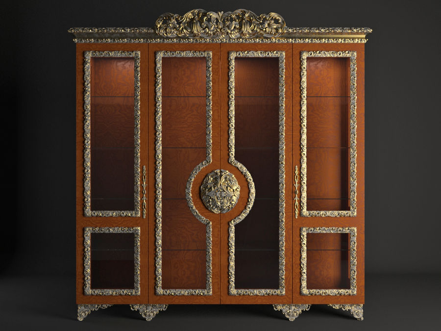 Classic Cupboard royalty-free 3d model - Preview no. 2