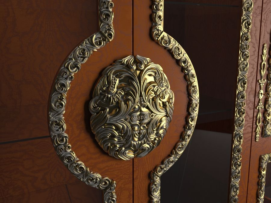 Classic Cupboard royalty-free 3d model - Preview no. 3