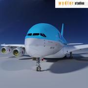 A380 Korean Air 3d model