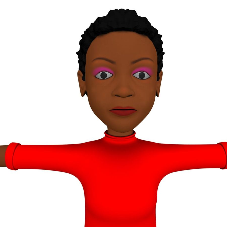 Femme africaine royalty-free 3d model - Preview no. 1