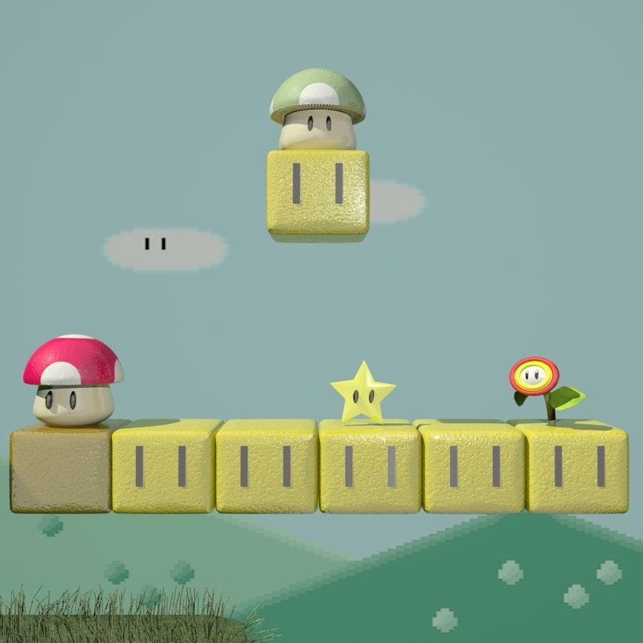Mario Set royalty-free 3d model - Preview no. 3