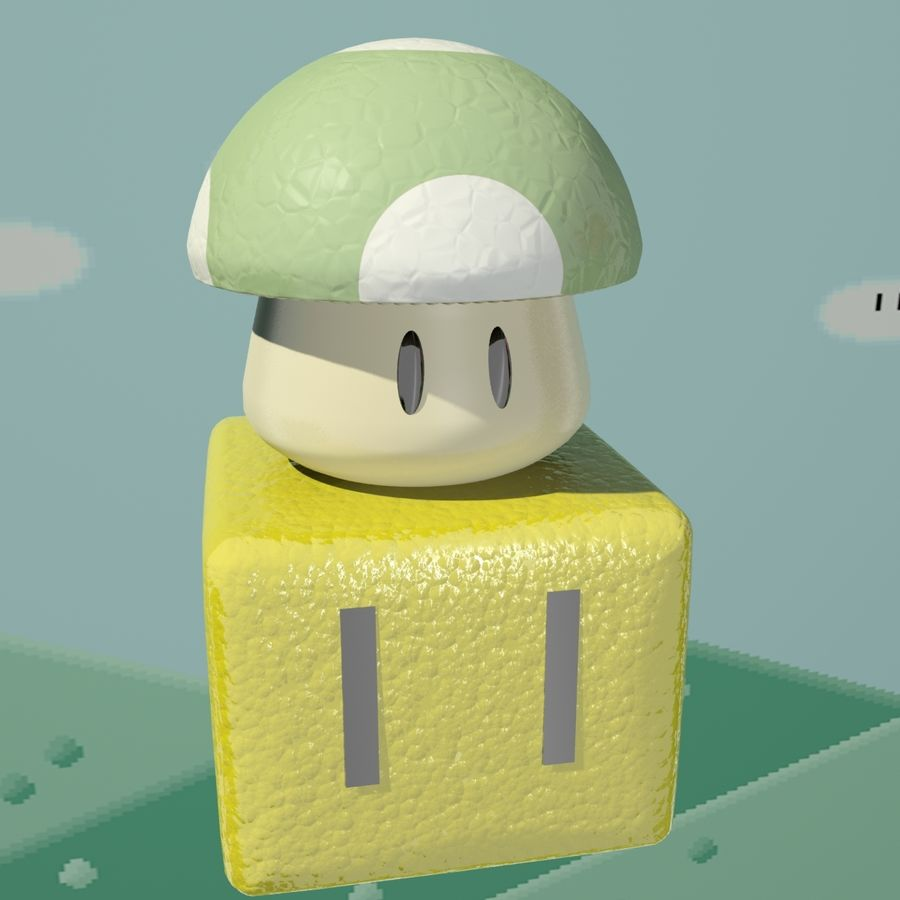 Mario Set royalty-free 3d model - Preview no. 6