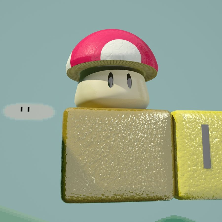 Mario Set royalty-free 3d model - Preview no. 4