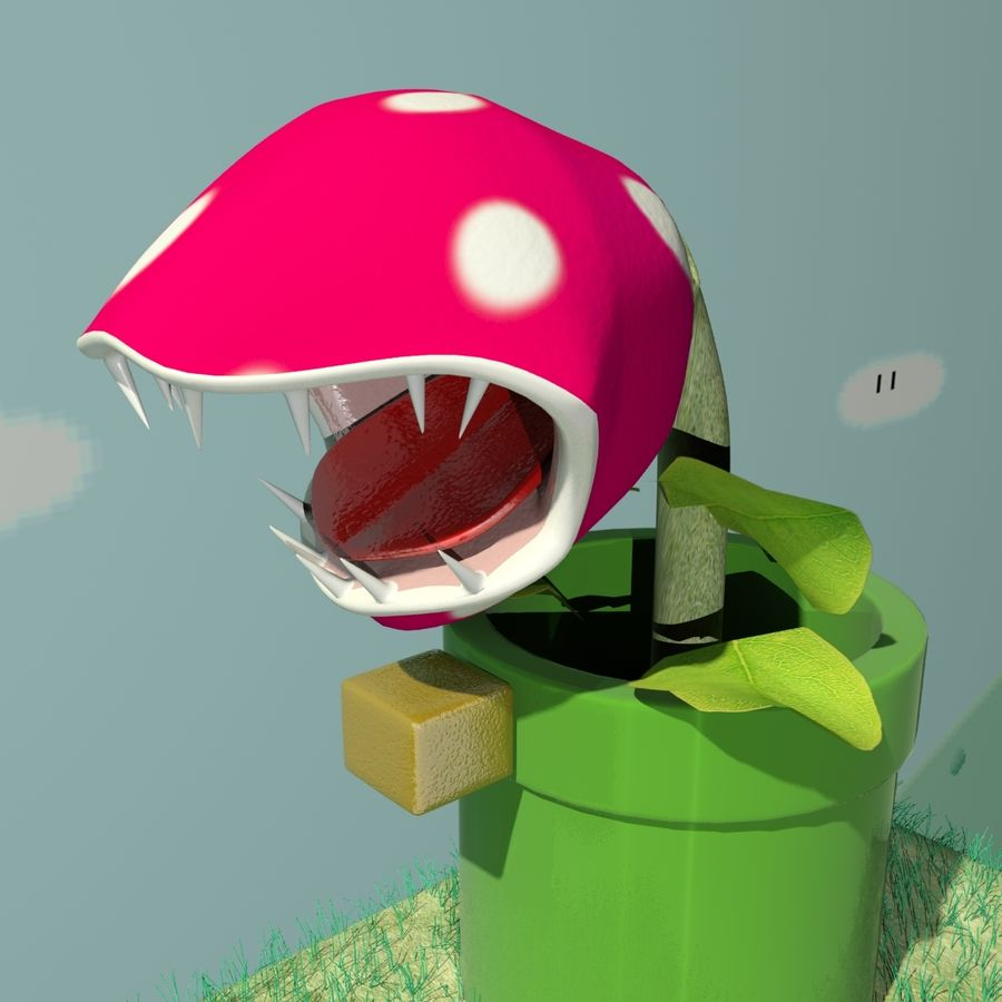 Mario Set royalty-free 3d model - Preview no. 8