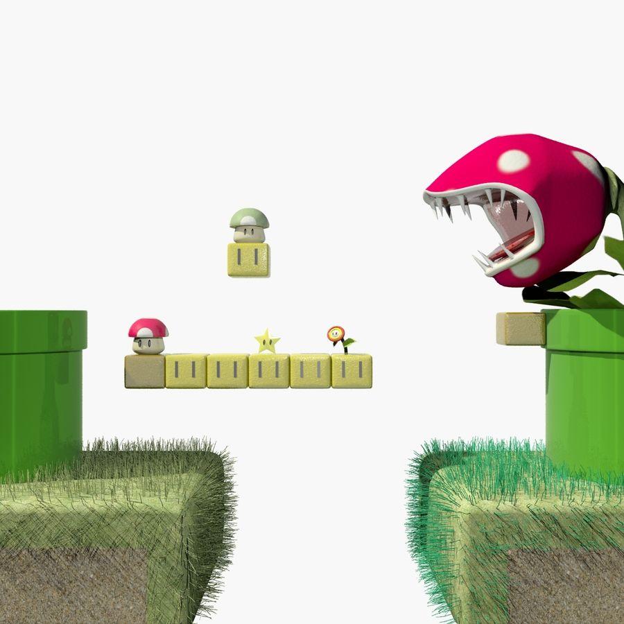 Mario Set royalty-free 3d model - Preview no. 1