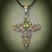 Elven pendant (cross) 3d model