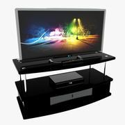 televisión modelo 3d