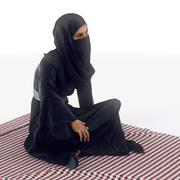 Arap kadın yere oturmak 3d model