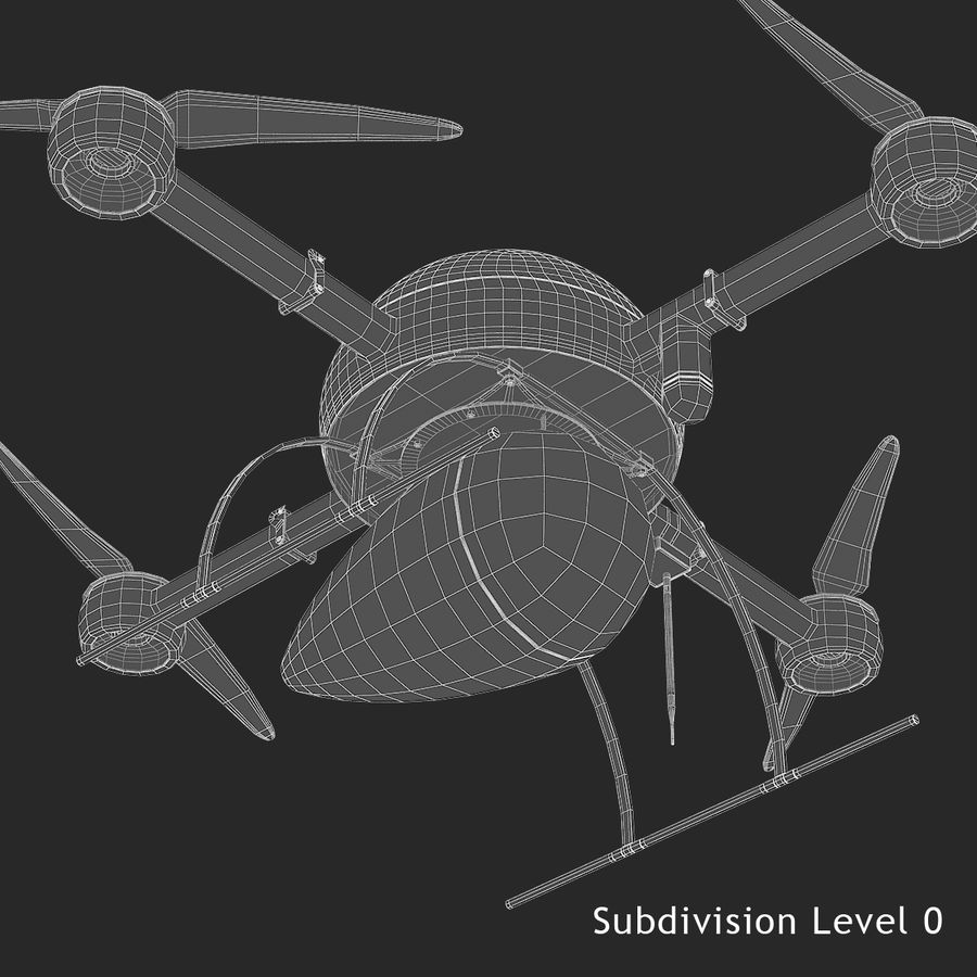 Delivery Drone royalty-free 3d model - Preview no. 13