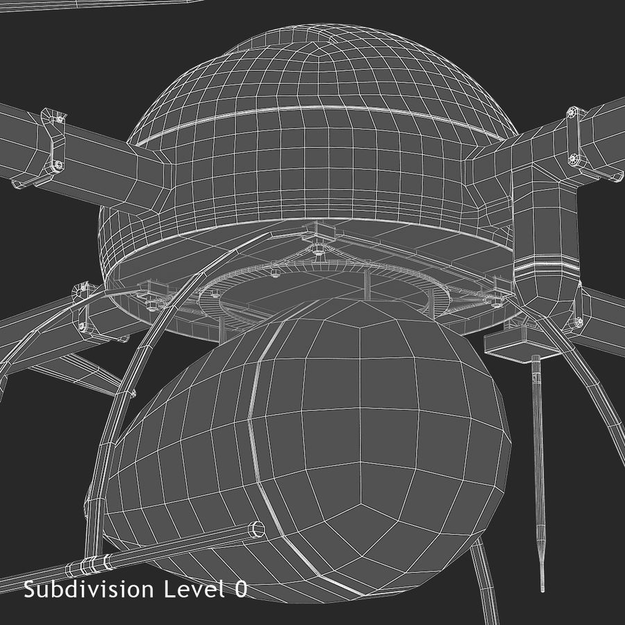 Delivery Drone royalty-free 3d model - Preview no. 16