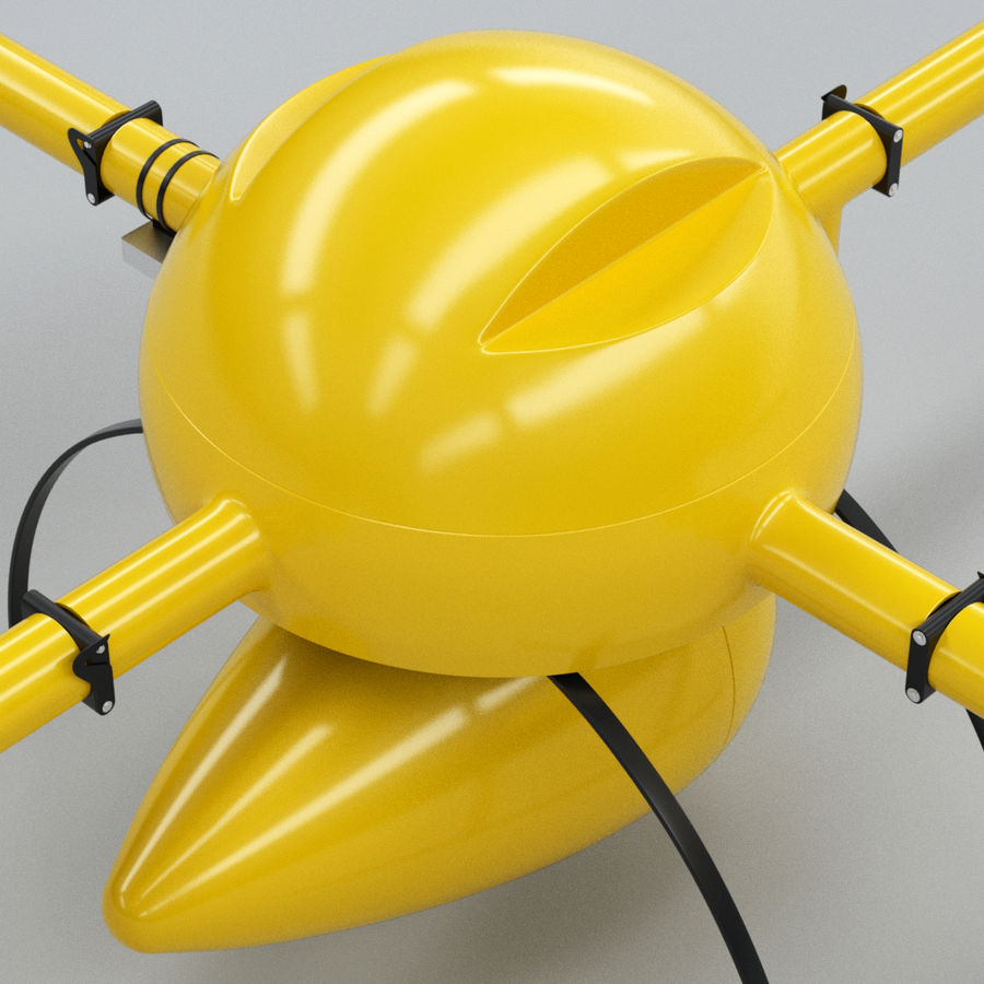 Delivery Drone royalty-free 3d model - Preview no. 7