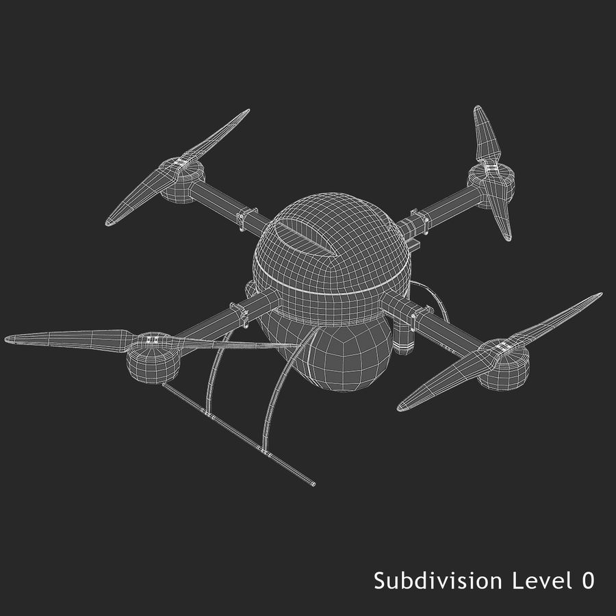 Delivery Drone royalty-free 3d model - Preview no. 12