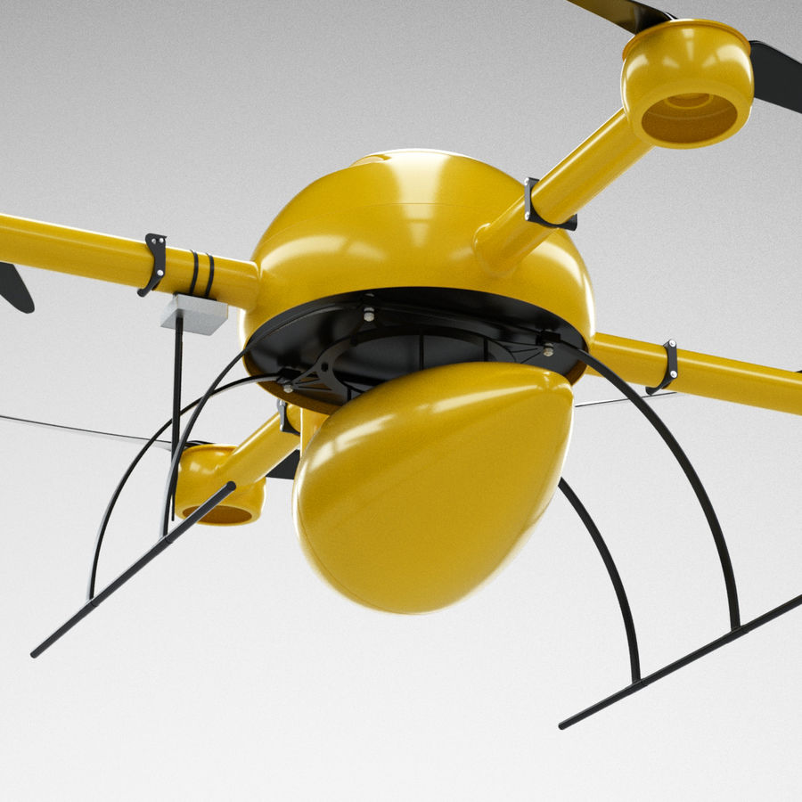 Delivery Drone royalty-free 3d model - Preview no. 9