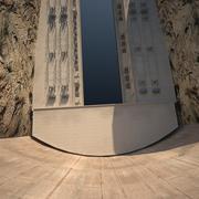 水力发电厂(大坝) 3d model