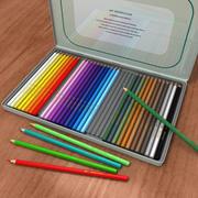 Aquarel potloden 3d model