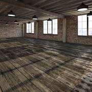 Chambre Loft Basique 3d model