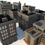 Downtown City Buildings 3d model