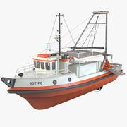 Łódź rybacka 3d model