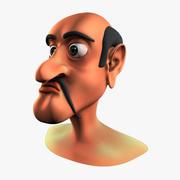 男性の漫画の頭 3d model