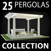 Coleção Pergolas 3d model