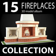 Garden Fireplaces Collection 3d model