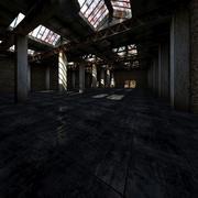 Oude magazijn interieur 3d model