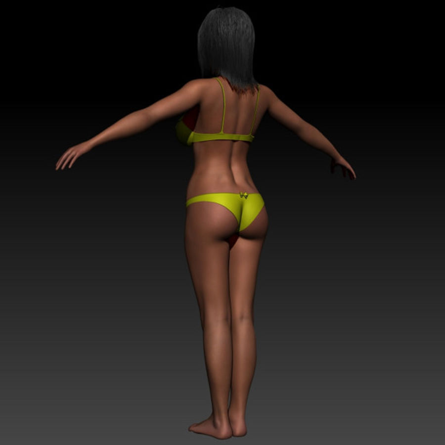 Z_Girl1 royalty-free 3d model - Preview no. 4