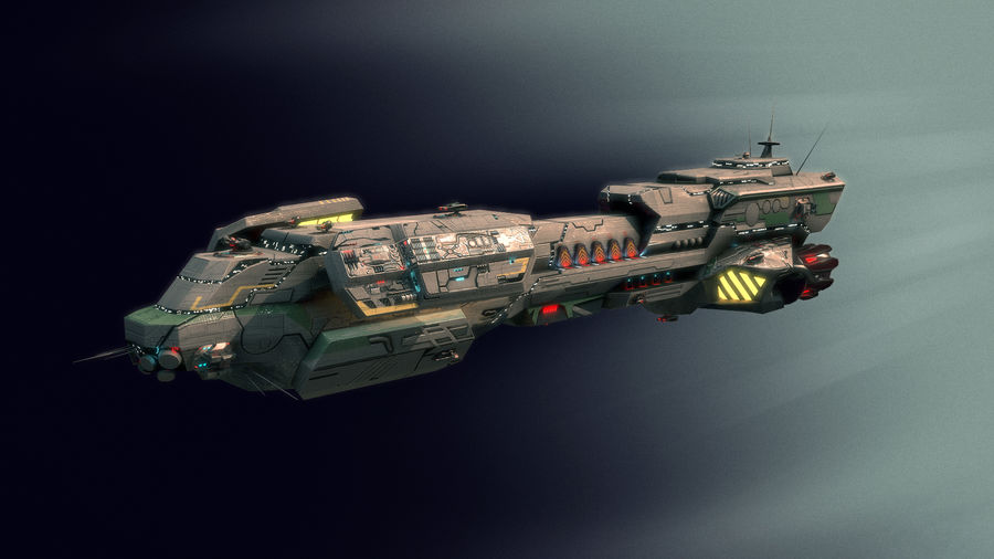 Scifi Space Cruiser royalty-free 3d model - Preview no. 4