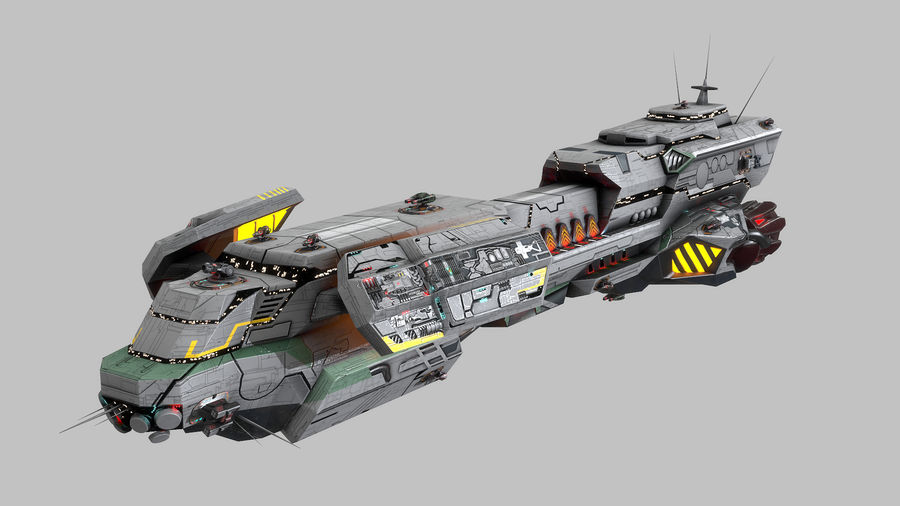 Scifi Space Cruiser royalty-free 3d model - Preview no. 1