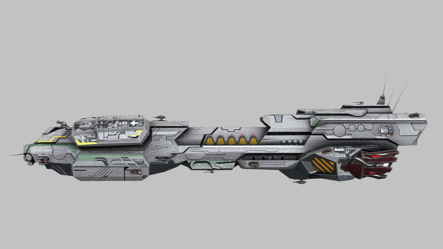 Scifi Space Cruiser royalty-free 3d model - Preview no. 2
