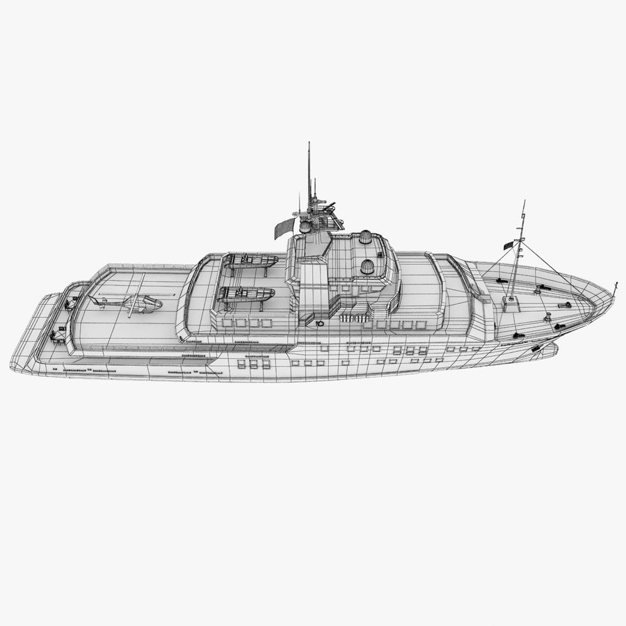 Derecktor 60M Yacht royalty-free 3d model - Preview no. 17