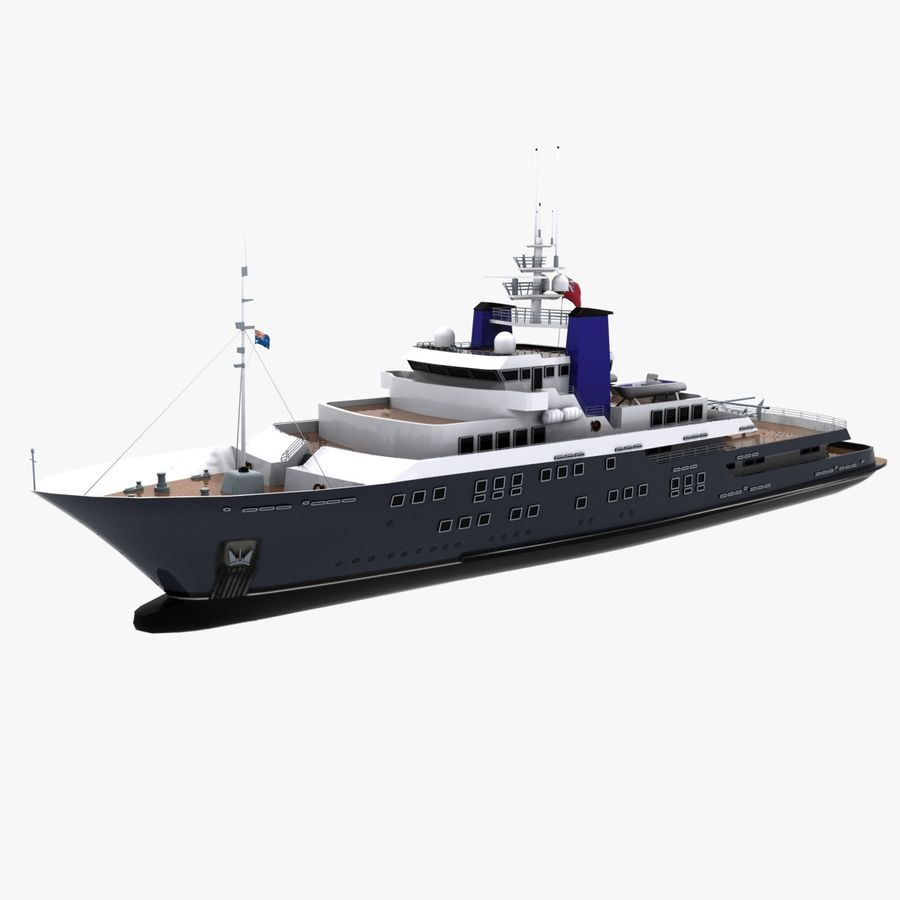 Derecktor 60M Yacht royalty-free 3d model - Preview no. 3