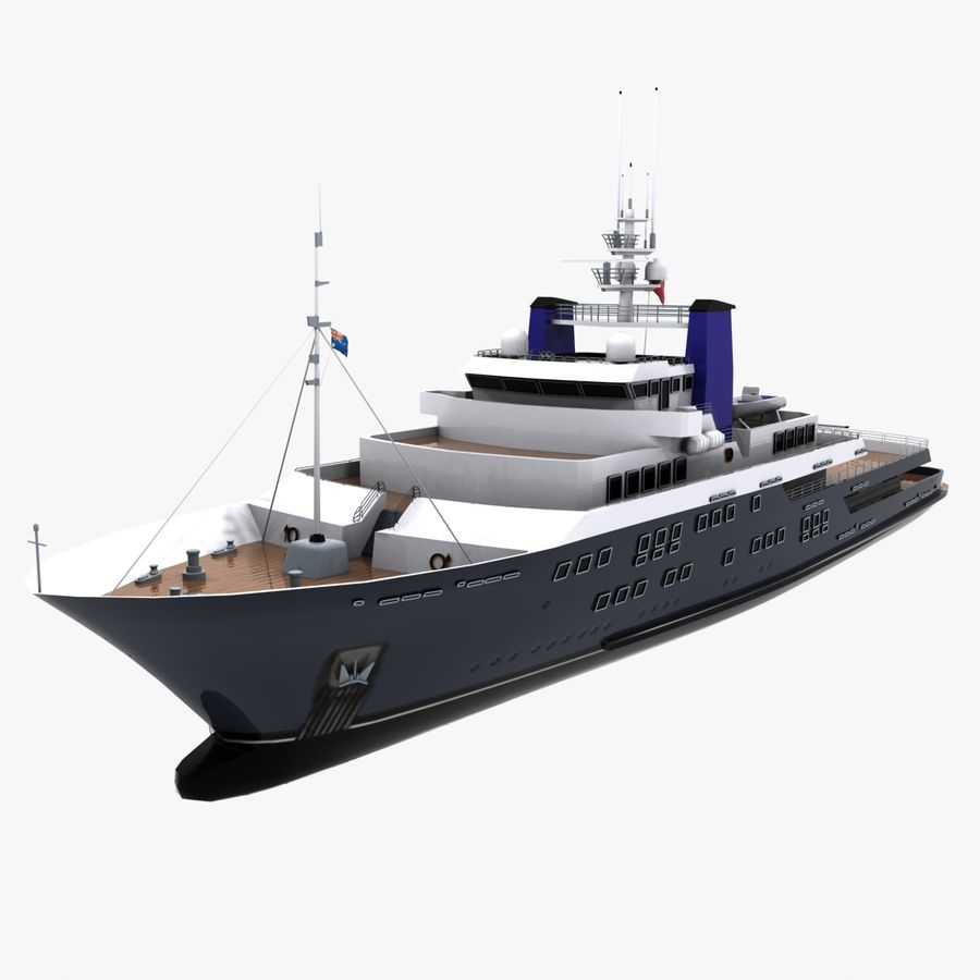 Derecktor 60M Yacht royalty-free 3d model - Preview no. 1