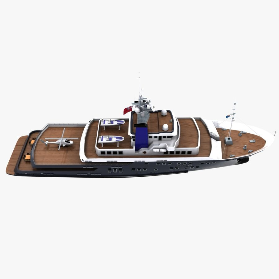 Derecktor 60M Yacht royalty-free 3d model - Preview no. 12