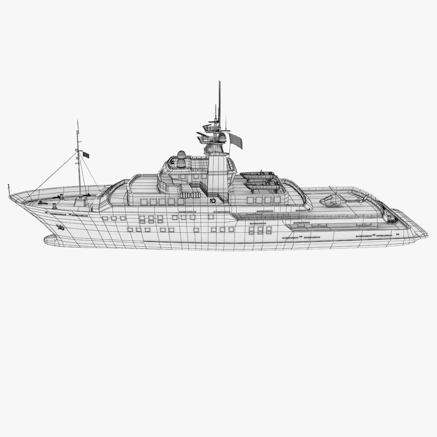 Derecktor 60M Yacht royalty-free 3d model - Preview no. 14