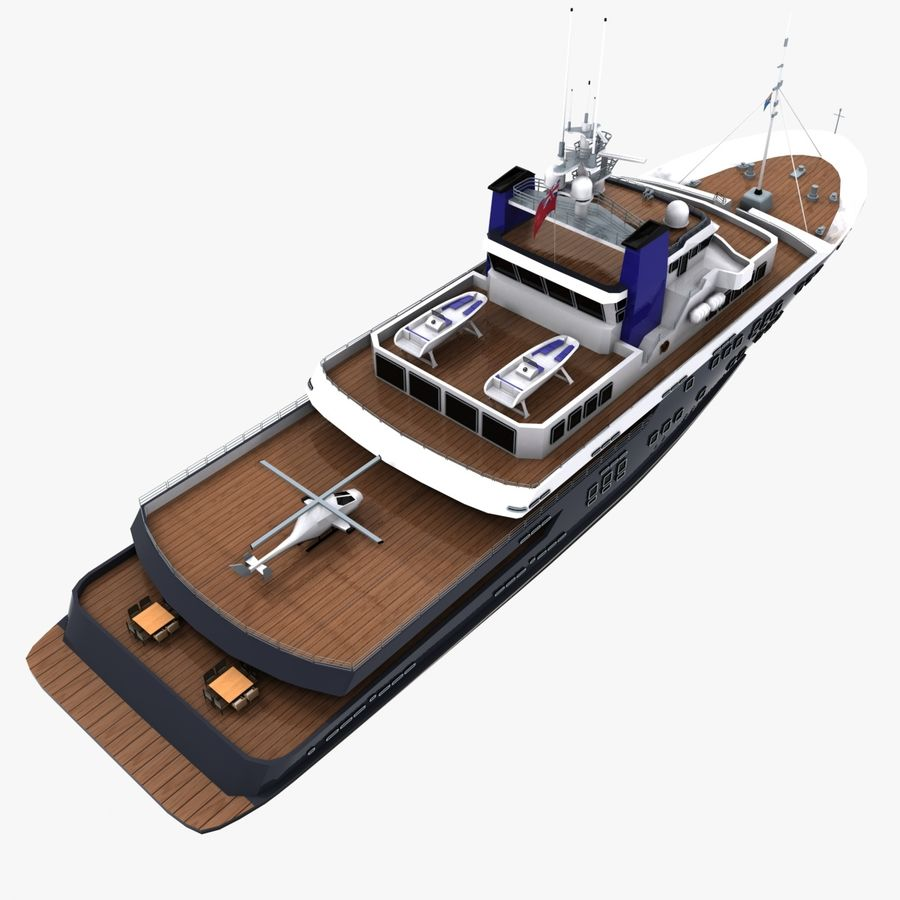 Derecktor 60M Yacht royalty-free 3d model - Preview no. 11