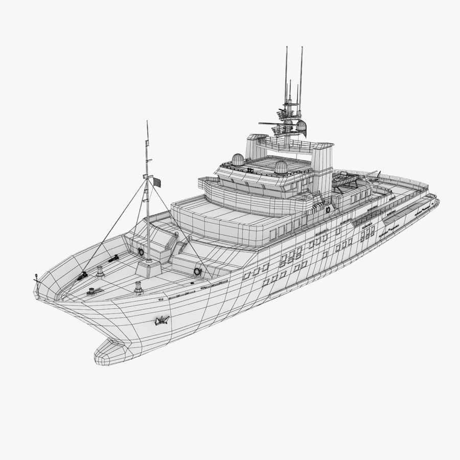 Derecktor 60M Yacht royalty-free 3d model - Preview no. 13