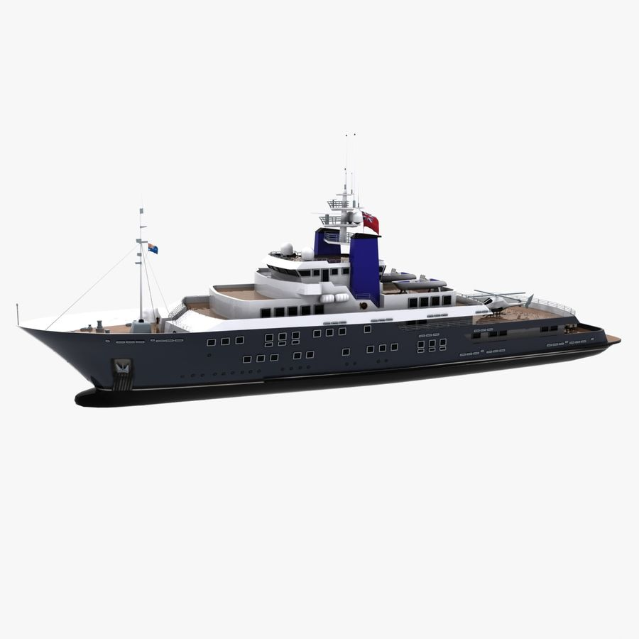 Derecktor 60M Yacht royalty-free 3d model - Preview no. 4