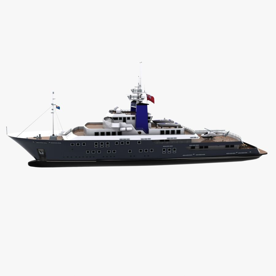 Derecktor 60M Yacht royalty-free 3d model - Preview no. 5