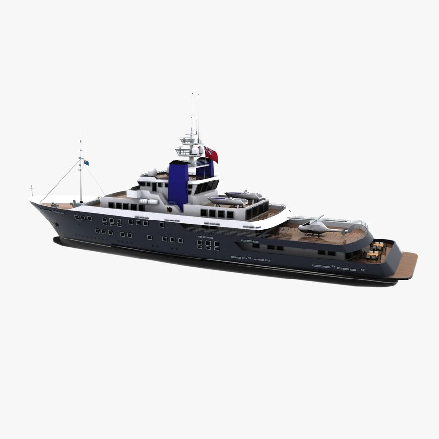 Derecktor 60M Yacht royalty-free 3d model - Preview no. 6