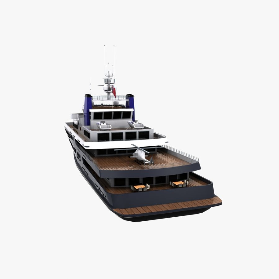 Derecktor 60M Yacht royalty-free 3d model - Preview no. 8