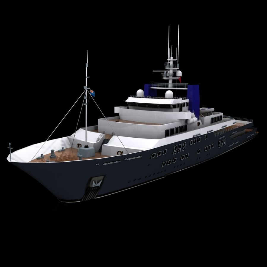 Derecktor 60M Yacht royalty-free 3d model - Preview no. 2