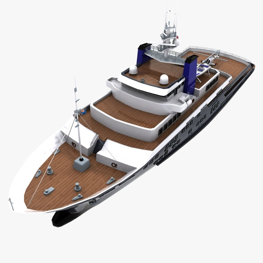 Derecktor 60M Yacht royalty-free 3d model - Preview no. 10