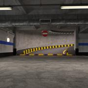 Parking podziemny 3d model