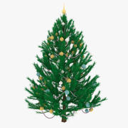 Noel Ağacı V2 Süslü Ladin 3d model