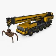 Mobilny żuraw 3d model
