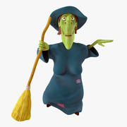Cartoon Witch Rigged 3d model